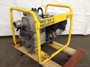 Used 2 Trash Pump Wacker Pt2 Dewatering Gas Water Grinder Sump Pumps Well Pond