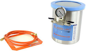 Glass Vac 1 Gallon Tall Stainless Steel Vacuum Chamber