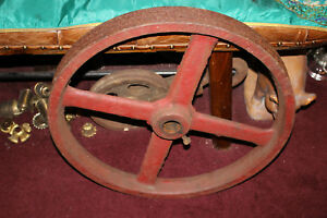 Large Antique Cast Iron Industrial Machine Shop Factory Gear Wheel Pulley Steam