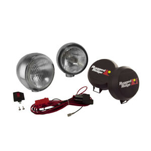 Rugged Ridge 15206 52 5 Inch Round Hid Off Road Fog Light Kit Stainless Steel
