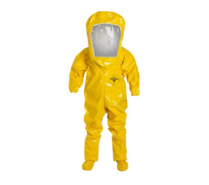 Dupont Tychem Br Personal Protection Suit Yellow Medium With Bag