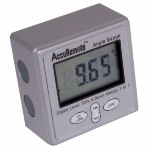 Accuremote Digital Electronic Magnetic Angle Gage Level Protractor Bevel