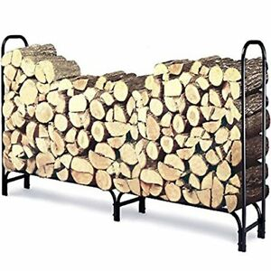 8 Ft Outdoor Fire Wood Log Rack For Fireplace Heavy Duty Firewood Pile Storage