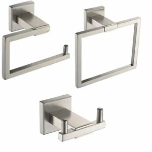 Xvl Bathroom Accessories Set Toilet Roll Paper Holder Towel Ring Robe Hook