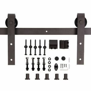 U max 6 6 Ft Sliding Barn Wood Door Basic Sliding Track Hardware Kit basic j