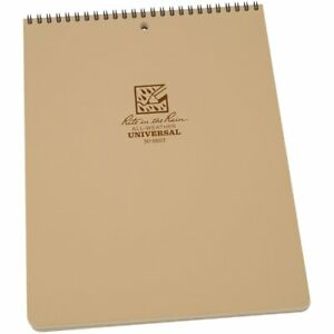Rite In The Rain All weather Top spiral Notebook 8 1 2 X 11 Tan Cover No