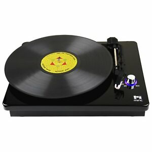 Miric Turntable Record Player 3 Speed With Dual Stereo Speakers Belt Drive