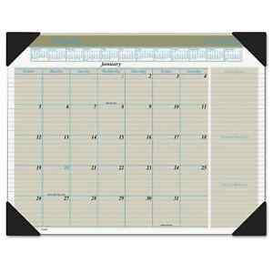 At a glance Executive Monthly Desk Pad Calendar 22 X 17 Buff 2018