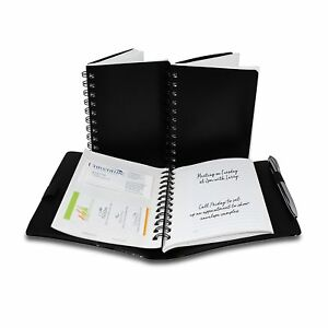 Cardnoter Business Card Organizer Executive Style 3 Notebooks And 1 Reusable