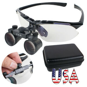 Upgraded Dental Loupes 2 5x R 360 580mm Surgical Medical Binocular Adjustable