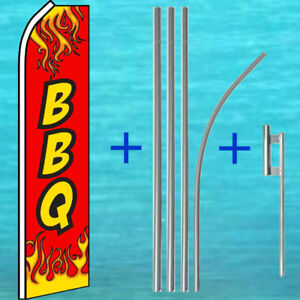 Bbq Flutter Flag Pole Mount Kit Tall Advertising Sign Feather S