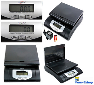 Weighmax Digital Postal Weight Scale 75 Lbs 10g Shipping Weighing Scales Black