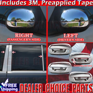 1997 2002 Ford Expedition Chrome Door Handle Covers Nokeypadhole Pillars Mirrors