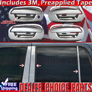 1997 2002 Ford Expedition Chrome Door Handle Covers W Opsgkeyhole Pillar Posts