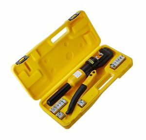 Tms 10 Ton Hydraulic Wire Battery Cable Lug Terminal Crimper Crimping Tool 9