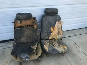 Bucket Seats With Tracks And Headrests Pair 1968 1972 Gm Chevy Chevelle Strato