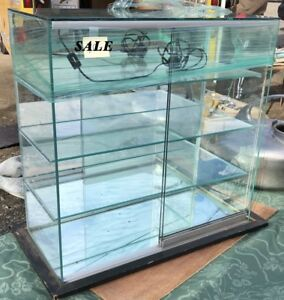 Glass Mirrored Back Light counter Top Display Case matchbox Diecast Display