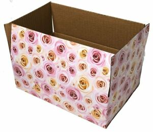 9x6x3 Rose Designer Boxes Corrugated Cardboard Box Shipping Cartons Mailers