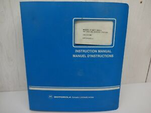 Motorola Repeater Msr 2000 30 watt Series Vhf 68p02900a01 c Instruction Manual
