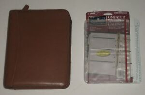 Franklin Covey Brown Leather Planner Binder 1 5 7 Rings Many Inserts