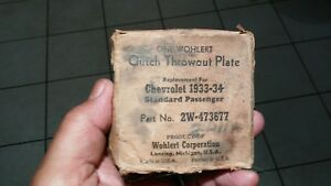 1933 1934 Chevrolet Throw Out Bearing Plate