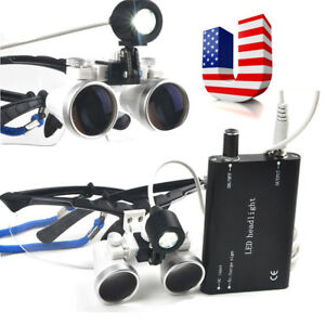 Dental Surgical Binocular Loupes 2 5x 420mm Optical Glass Loupe