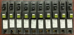 Lot Of 10 Square D Homeline Hom115pcafi 15a Plug In Arc fault Breaker New