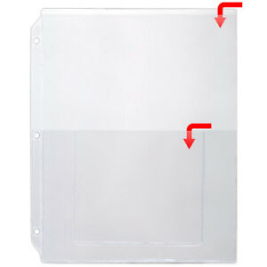 Storesmart Plastic Sheet Protector For 3 ring Binders Open Short 100pk Vh405 100