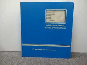 Motorola Repeater Msr 2000 30 watt Series Vhf 68p02900a09 c Instruction Manual