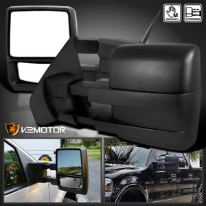 Fit 2004 2014 Ford F150 Pickup Truck Manual Telescoping Towing Side Mirrors Pair