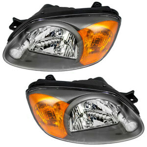 Set Of Headlights For 03 05 Hyundai Accent