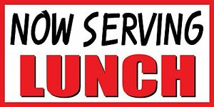 3 x8 Now Serving Lunch Food Fair Promotion Sign Banner