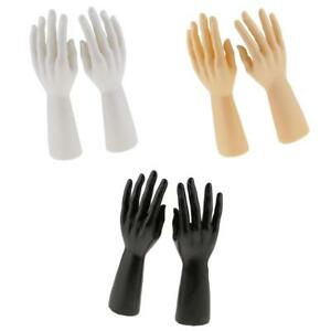 3 Pairs Male Mannequin Hand For Jewelry Bracelet Gloves Retail Store Display