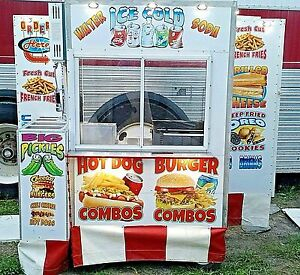 Custom Food Cart W automatic Fire System Ansul Foott Truck concession hot Dog