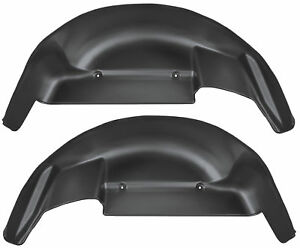 Husky Liners 2015 2019 Ford F 150 Black Rear Wheel Well Guards liner 79121