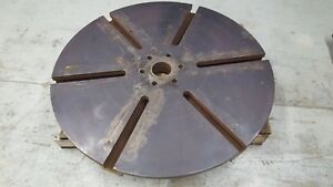 43 Round T slot Sub Plate Steel Fixture mounting Plate Slotted Table