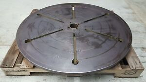 39 Round T slot Sub Plate Steel Fixture mounting Plate Slotted Table