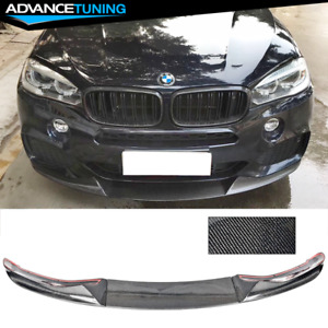 Fits 14 18 Bmw F15 X5 M tech Mp Style Cf Front Bumper Lip Spoiler