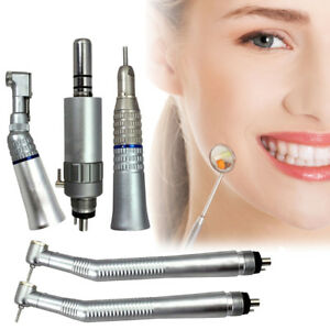 Dental Nsk Style Push Button High low Speed Handpiece Kit 4hole E type Air Motor