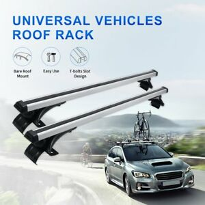 Universal Car Top Roof Rack Cross Bar Ski Box Carrier For Car Without Side Rails
