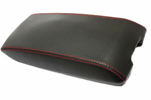 Red Stitch Center Console Lid Cover Synthetic Leather For 05 07 Dodge Charger