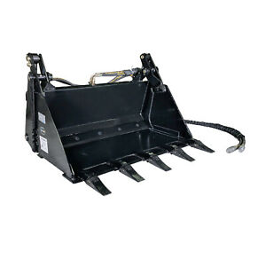 Titan 42 4 in 1 Combo Mini Skid Steer Bucket W Teeth