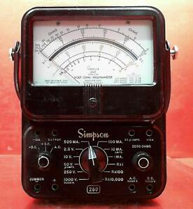 Simpson 260 Series 5m Multimeter Sn At6349