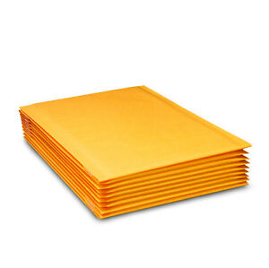 Kraft Bubble Mailers Yellow Padded Mailing Bags Paper Shipping Envelopes Quality