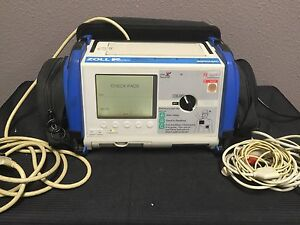 Zoll M Series Biphasic 200 Joules Max Ecg Monitor W Battery leads case cables