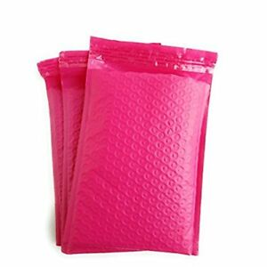 0 6x10 Hot Pink Poly Bubble Mailers Padded Mailing Bags Shipping Envelope 6 x9