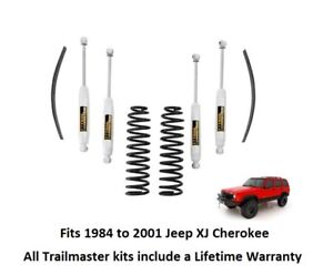 Jeep Cherokee Xj 3 0 Inch Lift Kit With Add a leaf Springs And Nitro Shocks