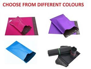 9x12 Poly Mailers Plastic Envelopes Colour Shipping Mailing Bags Seal 9 X 12