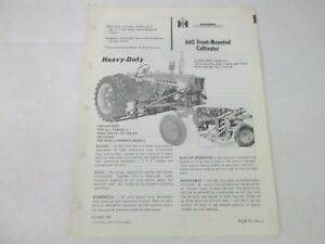 International Harvester 660 Front Mounted Cultivator 450 To 806 Tractor Brochure