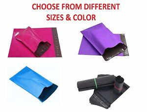 Poly Mailers Plastic Envelopes Colour Shipping Mailing Bags Premium Quality Line